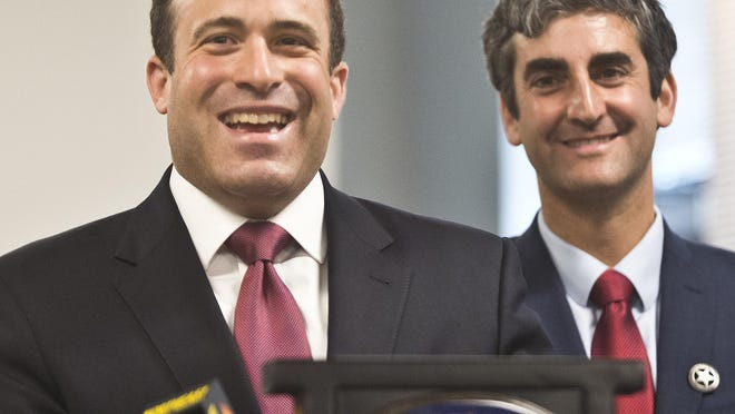 New York Police Department Deputy Inspector Brandon del Pozo, left, is the pick of Mayor Miro Weinberger as the next Burlington police chief.
