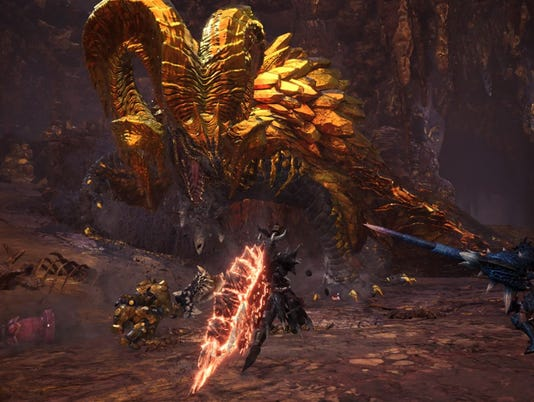 The elder dragon Kulve Taroth in Monster Hunter World.