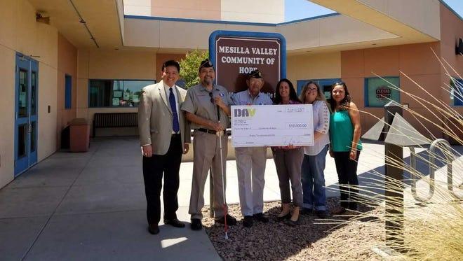 DAV gave Mesilla Valley Community of Hope $12,000 to help homeless and near-homeless veterans.