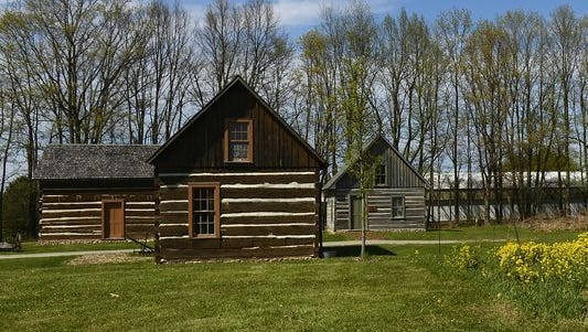 Log cabins on Oneida tribal land were built by the first Oneida to come to Wisconsin, almost two centuries ago.