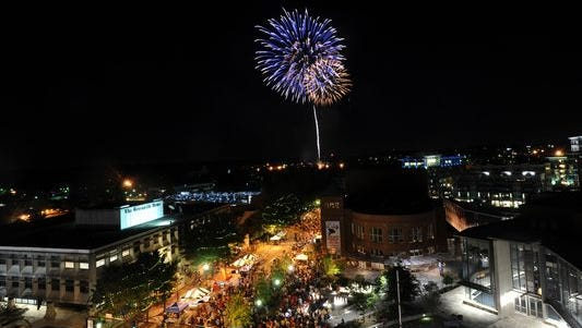 4th of July Fireworks Downtown Greenville