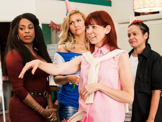 Niecy Nash, from left, Jenn Lyon, Carrie Preson and