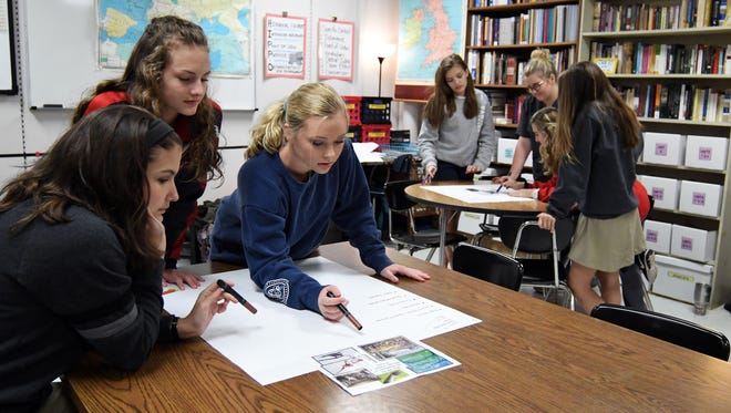 Petal High sophomores work on an assignment in their history class on Thursday. Petal School District is the No. 1 district in the state, according to the 2016-17 accountability rankings released by the Mississippi Department of Education.