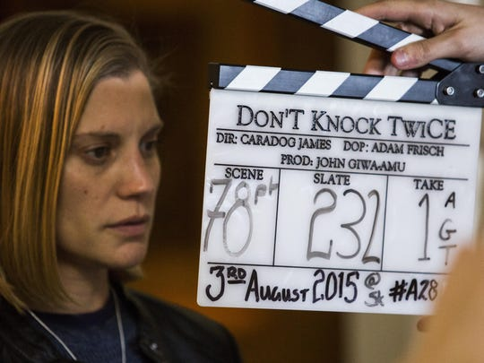 Katee Sackhoff prepares for another take in Caradog