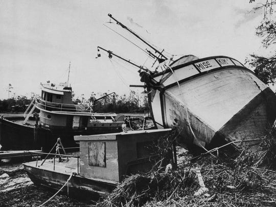 Hurricane Hugo devastated the small fishing village of  McClellenville, SC in September 1989.