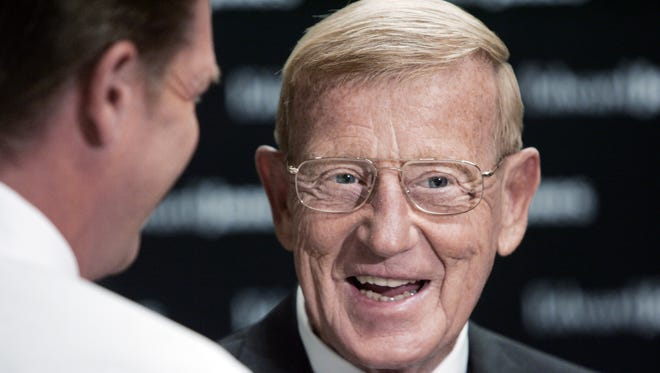 FILE -- Lou Holtz, former Notre Dame football coach.