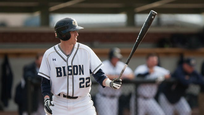 Union-Endicott graduate Dylan Hayes bats for Gallaudet University in a game during the 2015 season. Hayes started for Gallaudet as a freshman, and he batted .302.