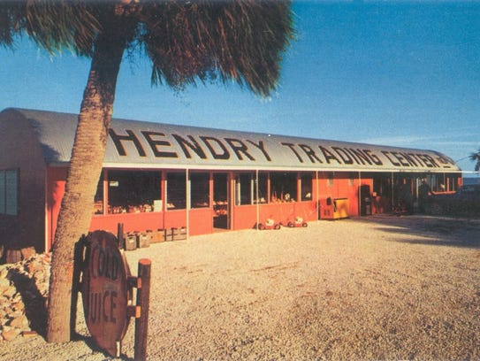 The Hendry Trading Center in the 1950s.