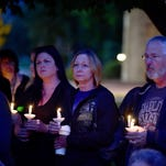 Candlelight vigil for Navy mom