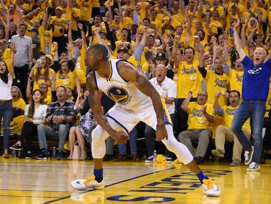 NBA: Playoffs-Oklahoma City Thunder at Golden State Warriors