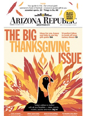 The big Thanksgiving edition of The Arizona Republic is in stores now.