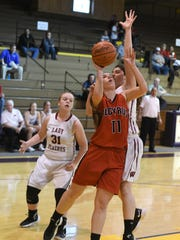 Bucyrus' Shania Orewiler had a double-double in her team's loss to Willard in the sectional semifinal.