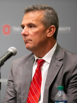 Ohio State athletic director Gene Smith and coach Urban Meyer addressed the media last week.