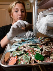 Brandi Lindoe of Clemson Confectioneries looks at pieces