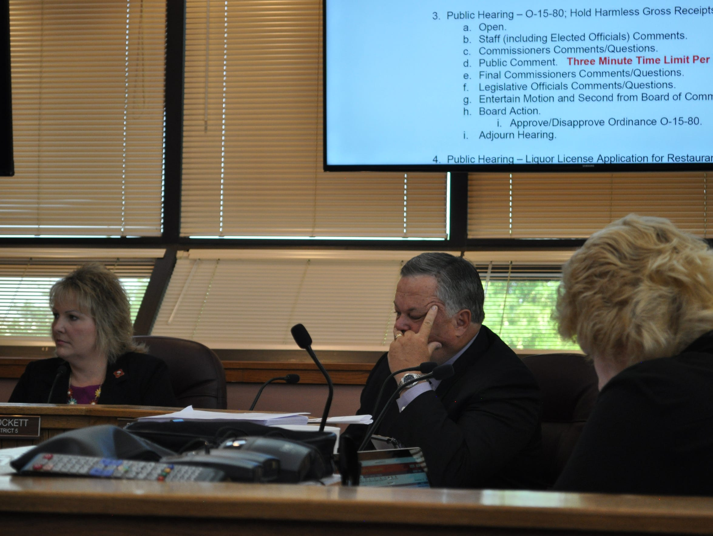 Commissioners consider public comment on Gross Receipts