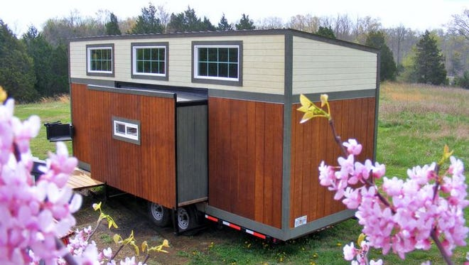 Visitors to the JCC's Earth Day event on Sunday can tour this tiny house. The event is free, but you can beat the crowds and take a preview tour for $5.