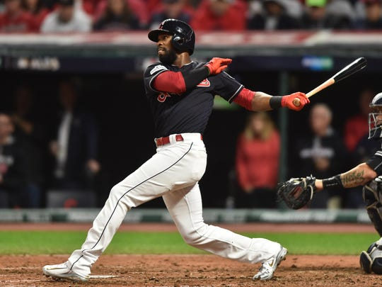 Austin Jackson, pictured last year playing for the Cleveland Indians.