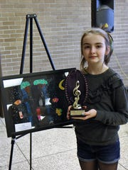 Martin Elementary fourth-grader Vivian Milligan was