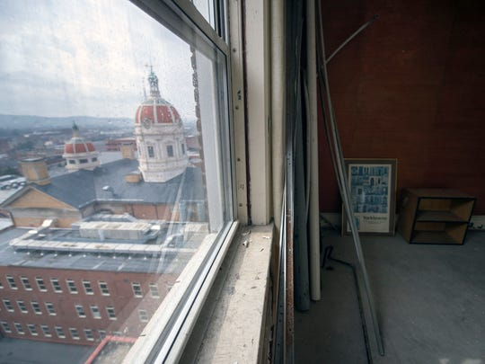 The view from the penthouse that hasn't been used in decades. Many aspects of the hotel fell into disrepair over the last decade, but the potential has always been there, Kay believes.