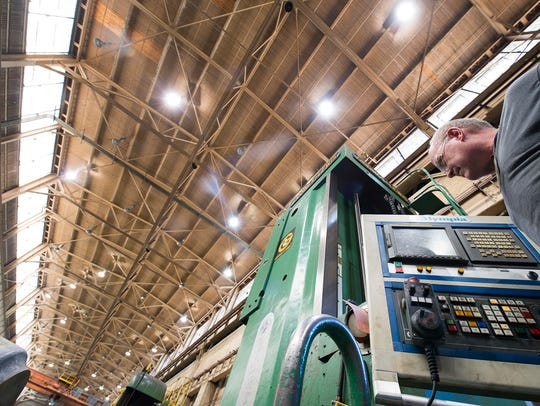 Machinist Greg Dierks, of Cross Roads, has been with