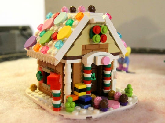 Packer said the pastel colored LEGOs on this gingerbread house are hard to come by.