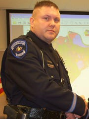 Ex-Fairview Township Police Officer Tyson Baker spent