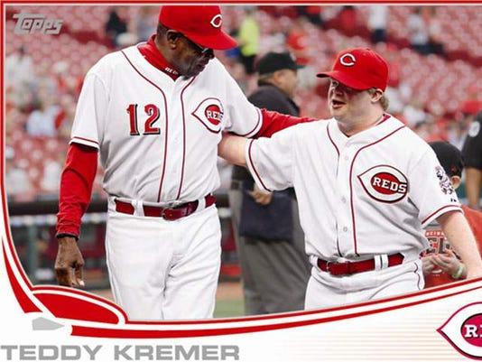 Former Reds Bat Boy Gets His Own Topps Baseball Card