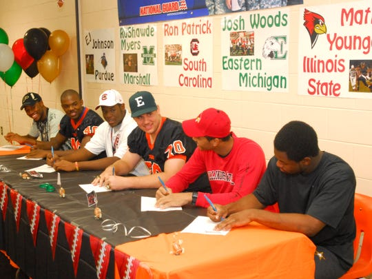 Cocoa H.S. football teammates sign letters of Intent
