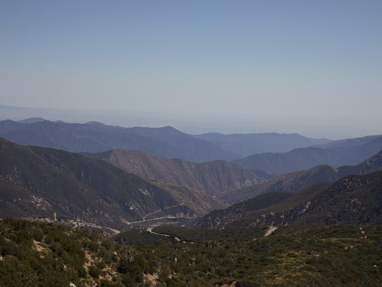 A view of the San Gabriel Mountains National Monument,