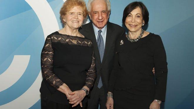 Deborah Lipstadt with Harold and Penny Blumenstein at the Jewish Federation of Palm Beach County King David Society dinner at The Colony Tuesday January 14, 2020 in Palm Beach.