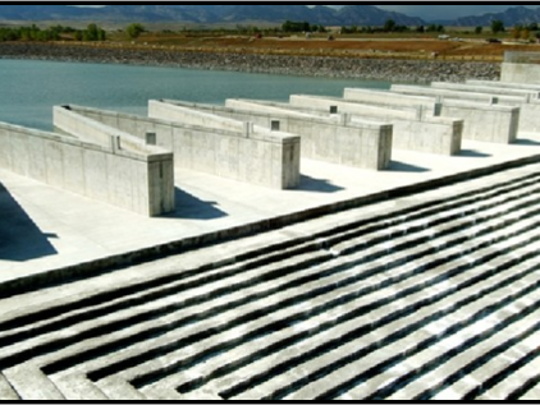 The design of the emergency spillway at the Upper Touby