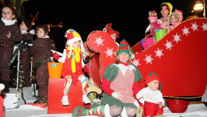 during the Petal Christmas Parade  on Saturday. Hundreds came out to take in the sights and sounds of the annual parade.