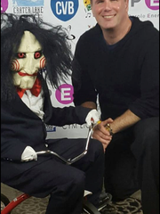 Christopher Spellman, seen here in a promotional shot with a cosplayer, will launch Comic Con Palm Springs on Friday, Aug. 26 at the Palm Springs Convention Center.