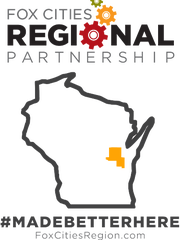 """The Fox Cities Regional Partnership promotes the area under the slogan """"Made Better Here."""""""