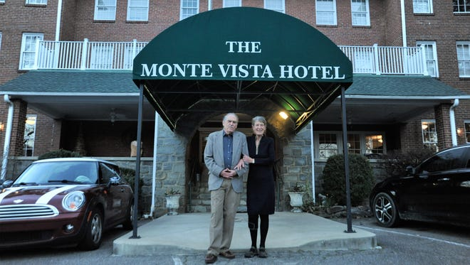 Barney Fitzpatrick and Sue Conlon received a warm send-off from the community at an open house at the Monte Vista on Feb. 21. The couple sold the hotel after owning and operating it for eight years.