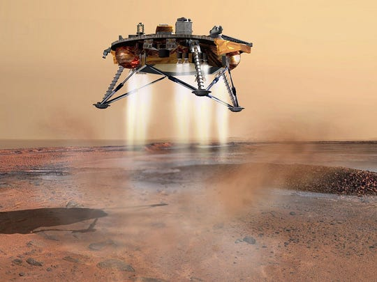 This illustration shows the Phoenix Mars Lander as