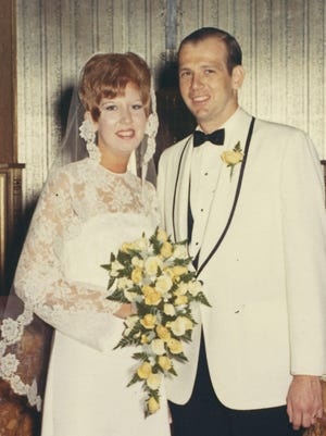Mr. and Mrs. David Williams on their wedding day Aug. 8, 1970.