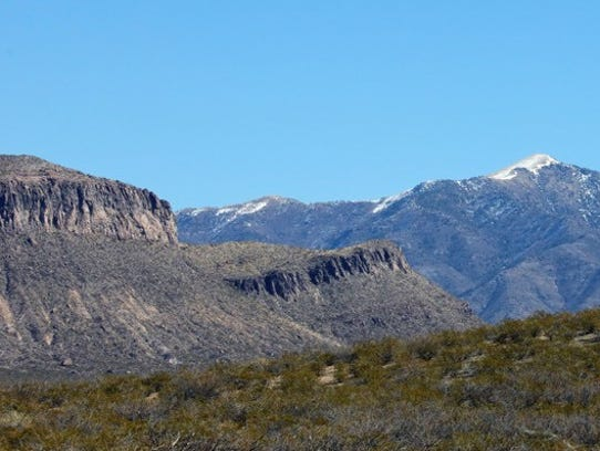 Typical ridges in the high desert of the Tularosa Basin.
