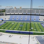 University of Kentucky renovates Commonwealth Stadium in Lexington, Ky., on July 22, 2015. Photo by Mike Weaver