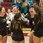 The Rocky Mountain High School volleyball team went 14-11 in 2014, sweeping the city, and returns the core of its team this season.