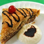 Andy's Mediterranean Grille's giant baklava tied for second place in the Best of Taste's Best Dessert category.