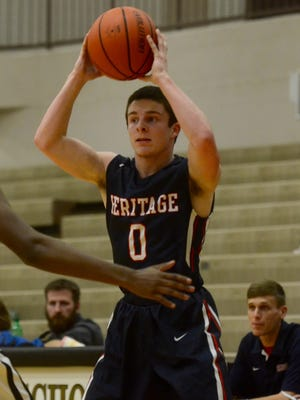 White House Heritage guard Chris Rippy scored in the final seconds of overtime on Tuesday, lifting the Patriots to a 54-53 win over Hendersonville.
