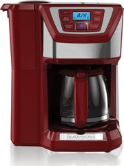 This photo provided by Black+Decker shows the Black+Decker Mill & Brew 12-Cup Programmable Coffee Maker. Marsala, the wine-influenced, red-kissed color of 2015, was chosen by Pantone. Pantone's yearly picks can herald a marked presence of a color in fashion, beauty, housewares, home design, industrial design, and consumer packaging, though some years the influence is stronger than others. (AP Photo/Black+Decker)