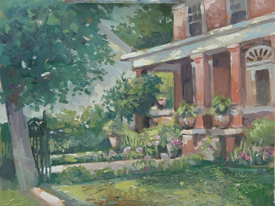 Painting of the Doherty home in Waynesboro by M. Stephen Doherty.