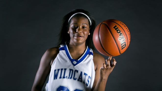 Mesquite's Cecily Wilson if the big schools girls basketball player of the year.