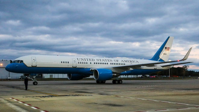 President Trump is set to take his first trip on Air Force One on Thursday.