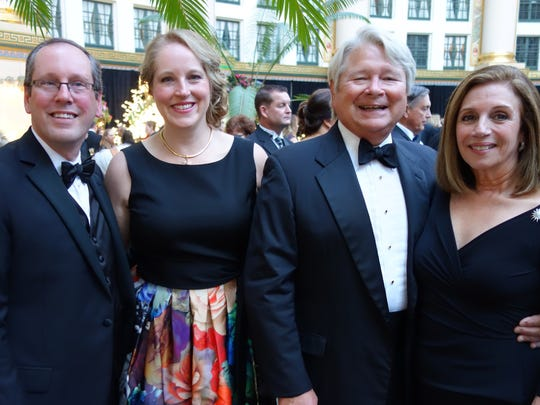 St. Mary's Medical Center CEO Keith Jewell and his fiance Dr. Erika Rager and Drs. Michael and Maria Hoover