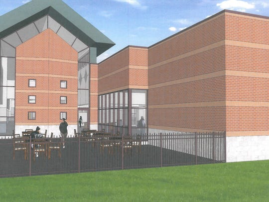 Another view of the addition planned for Westland's Faust Library.