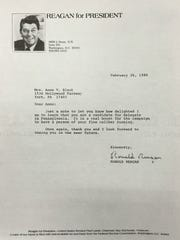 Anne Black received this letter from Ronald Reagan.