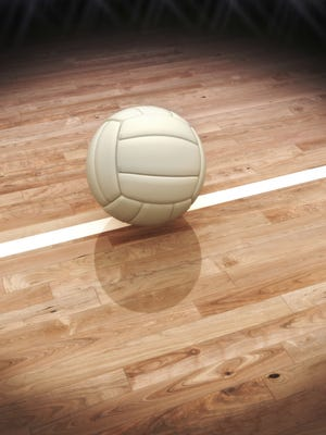 Volleyball on a court